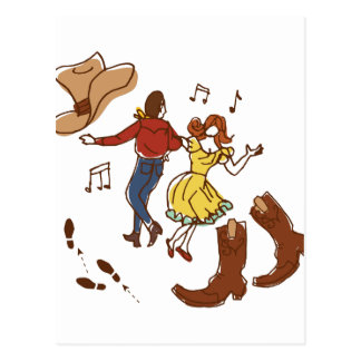 Square Dance Postcard