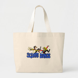 Square Dance T-shirts and Gifts. Large Tote Bag