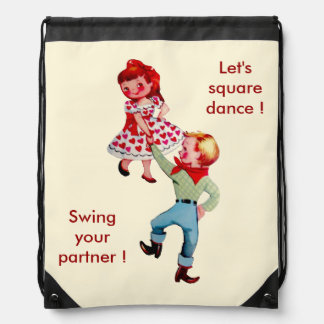Square Dance Theme Backpack
