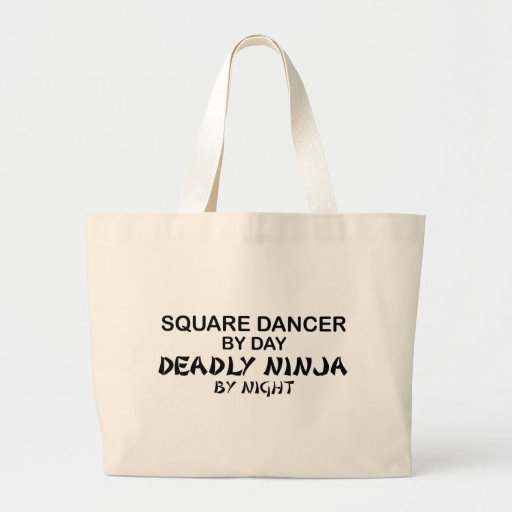 Square Dancer Deadly Ninja by Night Tote Bags