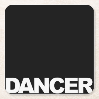 Square Dancer Square Paper Coaster