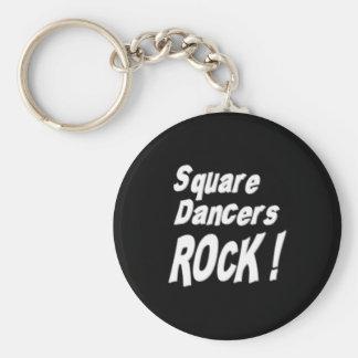 Square Dancers Rock! Keychain