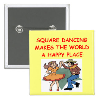 square dancing 2 inch square button