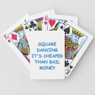 square dancing bicycle card deck