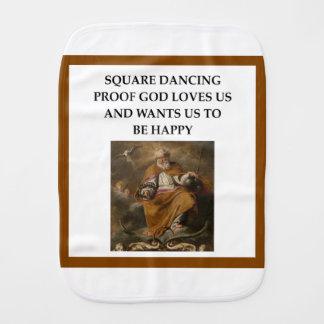 square dancing burp cloth
