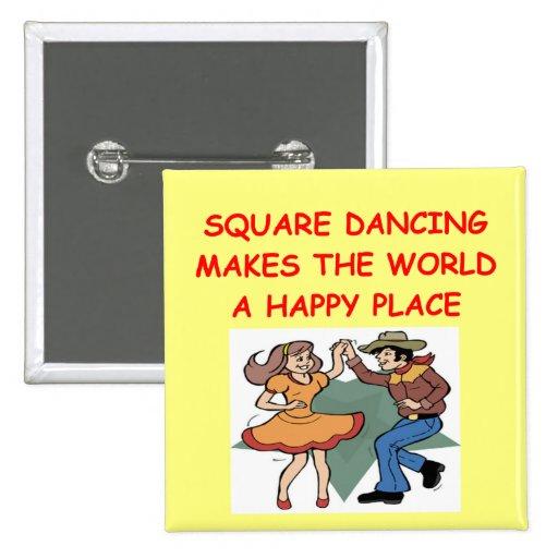 square dancing pinback button