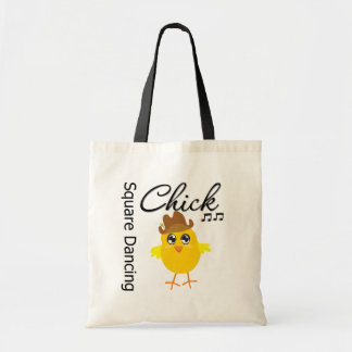 Square Dancing Chick Budget Tote Bag