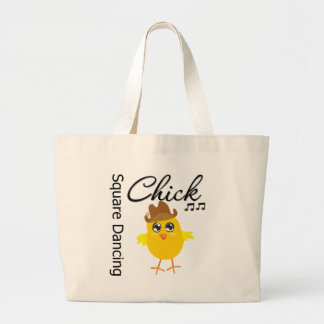 Square Dancing Chick Large Tote Bag