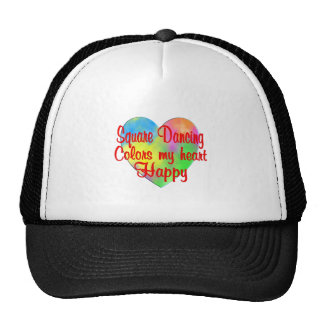 Square Dancing Colors My Heart Happy Trucker Hat