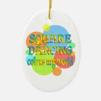 Square Dancing Colors My World Ceramic Ornament