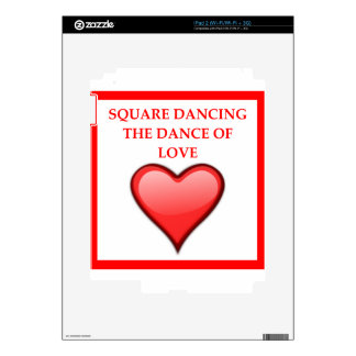 square dancing decal for the iPad 2