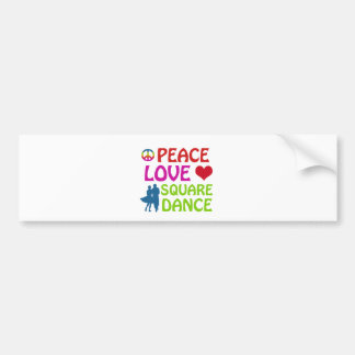 Square dancing designs bumper sticker