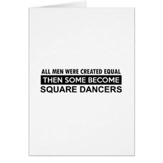 Square dancing designs card
