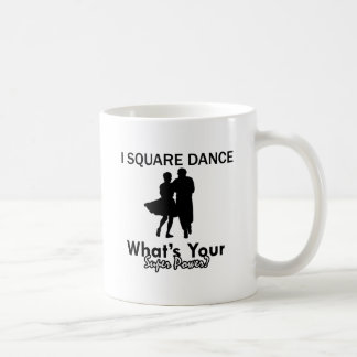 Square dancing designs coffee mug