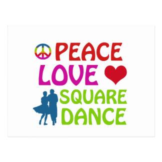 Square dancing designs postcard