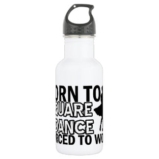 Square dancing designs water bottle
