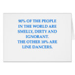 square dancing greeting card