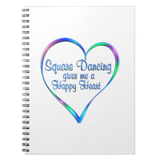 Square Dancing Happy Heart Notebook