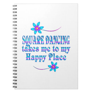 Square Dancing Happy Place Notebook