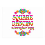 Square Dancing Heart Happy Post Card