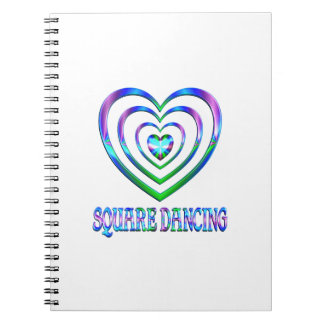 Square Dancing Hearts Notebook