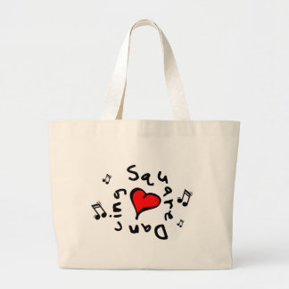 Square Dancing I Heart-Love Gift Canvas Bag