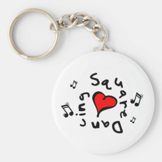 Square Dancing I Heart-Love Gift Basic Round Button Keychain