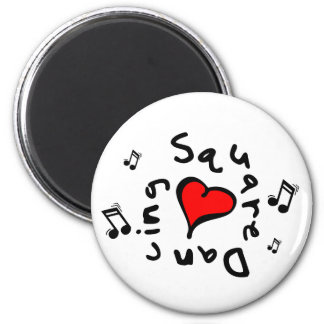Square Dancing I Heart-Love Gift 2 Inch Round Magnet