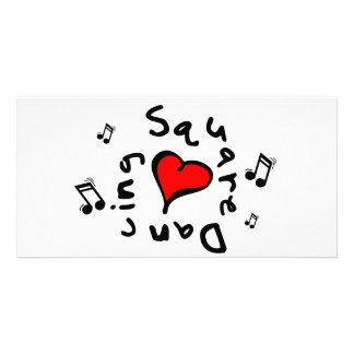 Square Dancing I Heart-Love Gift Photo Card