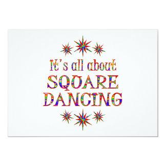"""SQUARE DANCING 5"""" X 7"""" INVITATION CARD"""