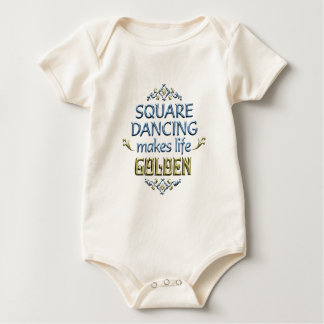 Square Dancing is Golden Baby Bodysuit