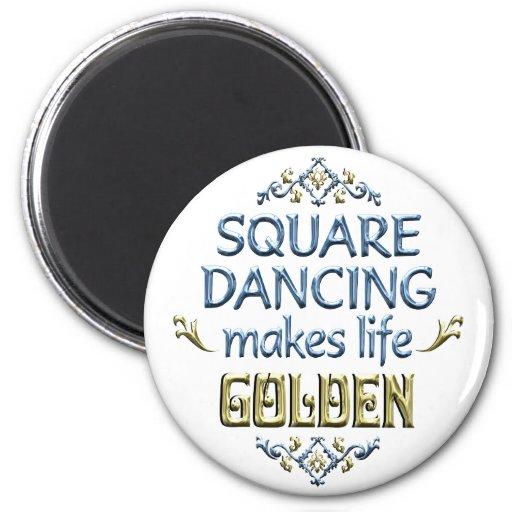 Square Dancing is Golden Fridge Magnet