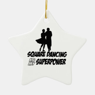 square dancing is my superpower ceramic ornament