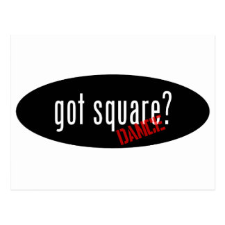 Square Dancing Items – got square Postcard