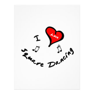 Square Dancing Items - I Heart Square Dancing Letterhead