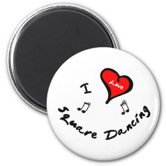 Square Dancing Items - I Heart Square Dancing 2 Inch Round Magnet