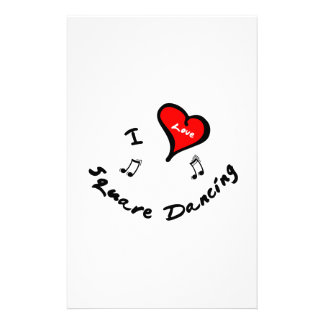 Square Dancing Items - I Heart Square Dancing Stationery
