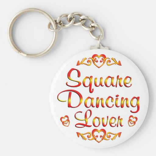 Square Dancing Lover Keychain