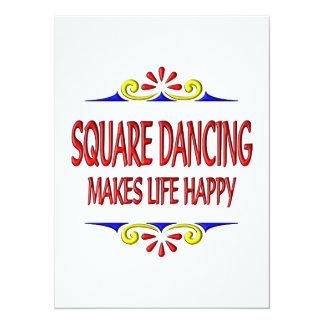 "Square Dancing Makes Life Happy 5.5"" X 7.5"" Invitation Card"