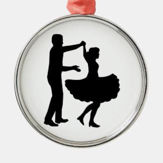 Square dancing metal ornament