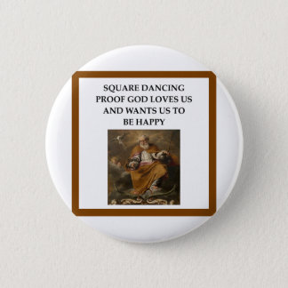 square dancing pinback button