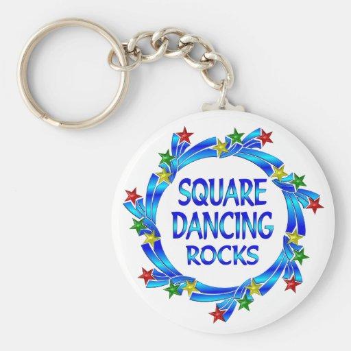 Square Dancing Rocks Key Chain