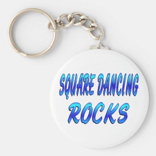 SQUARE DANCING ROCKS KEY CHAINS