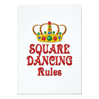 "SQUARE DANCING RULES 5"" X 7"" INVITATION CARD"