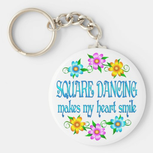 Square Dancing Smiles Keychain