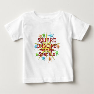 Square Dancing Sparkles Baby T-Shirt