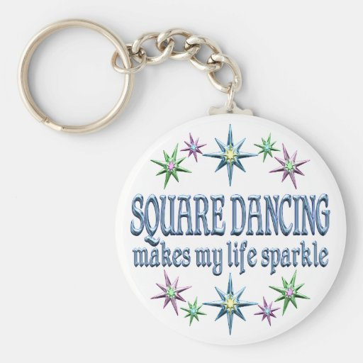 Square Dancing Sparkles Keychain