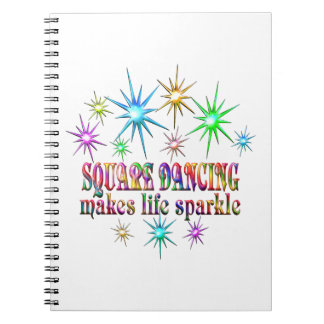 Square Dancing Sparkles Notebook