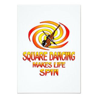 "Square Dancing Spins 5"" X 7"" Invitation Card"