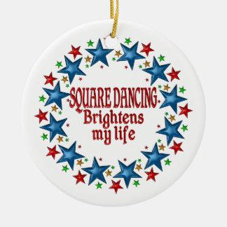 Square Dancing Stars Ceramic Ornament